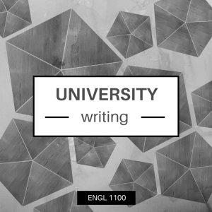 Grey graphic for English 1100